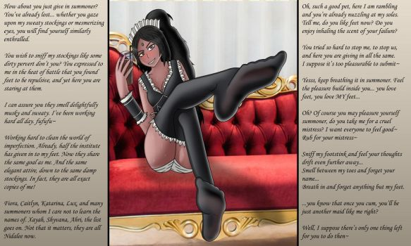 French Maid Nidalee with Text (Personal) by Goop-Sinpai