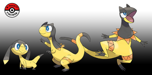 694 - 695 Helioptile Line by InProgressPokemon