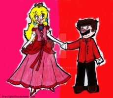 Mario and Peach dance by Glaciliina