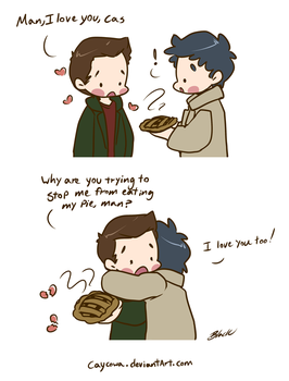 SPN - Love the Pie Man by caycowa