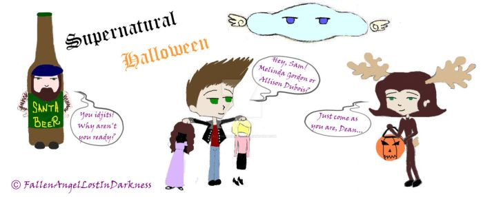 Supernatural Halloween by FallenInDarkness