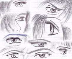 Eye doodles from Christmas holiday 2013 by sthaque