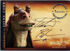 #7 Jayne Jayne Binks Cards signed by Adam Baldwin by NegOne