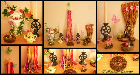 Beltane / May Day Altar - 2017 by Mavelle-Ealenyr