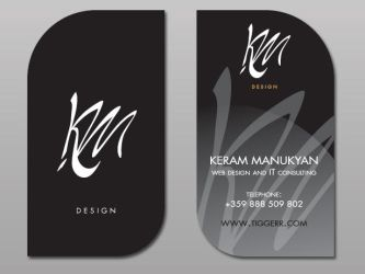 Business card by sea-weed