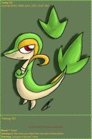 Snivy Journal Skin by AbyssinChaos