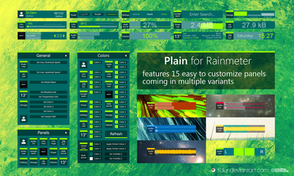 Plain for Rainmeter by Fi3uR