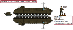 (ALT) Alliance T-102 'Mother Turtle' Drone Carrier by TinkerTanker44432