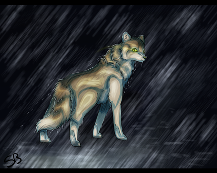 Stand in the Rain -redo- by Forever-Wolfy