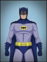 Batman '66 - Adam West tribute by DraganD