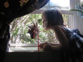 A Pinwheel in our Window by DragonPress