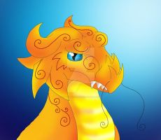 Asian Dragon headshot by Lily-the-pink