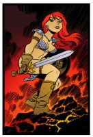 Red Sonja by Bruce Timm by DrDoom1081
