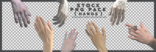 [28072017] STOCK PACK (HANDS) by btchdirectioner
