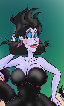 Ursula the Sea-Witch gets mimified! (preview!) by mistersnow