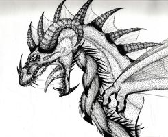 Part Pointalism Dragon by Neila078