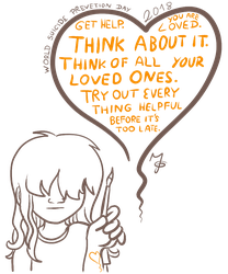World Suicide Prevention Day 2018 (Quick Drawing) by Tabascofanatikerin