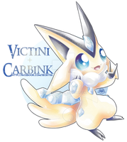 Victini X Carbink by Seoxys6