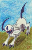 Absol Used Quick Attack by Soulful-Purple-Wolf