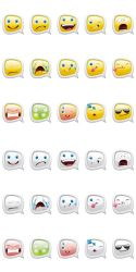 Set Of Smiley Bubbles by Inshader