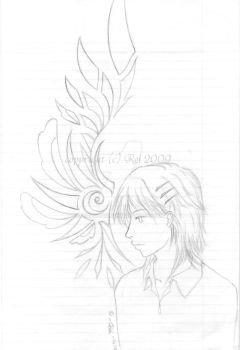 OC Sketch - Thinking of Wings by KurobaX
