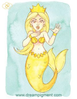 MerMay 2018: Day 13 - Golden by DreamPigment