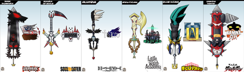 Keyblade Cards - Anime Set One by IronClark