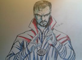Dr. Strange Sketch by MikeES