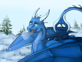 Cold morning by DraKitty