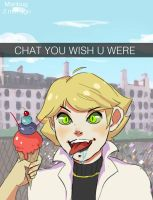 CHAT DRESSED UP AS ADRIEN THIS TIME?? by 13asic