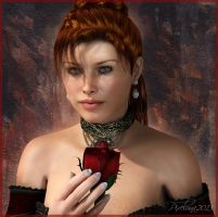 The Red Rose by pixeluna