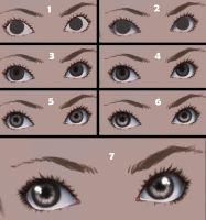 Eyes step by step by CatNinjaX