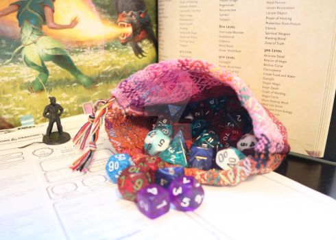 Cotton Dice Bag by krystalfan-2