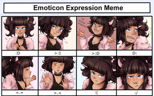 Emoticon Expression Meme - Rita by Decora-Chan