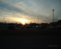 Sunset over the Parking Lot by Norski
