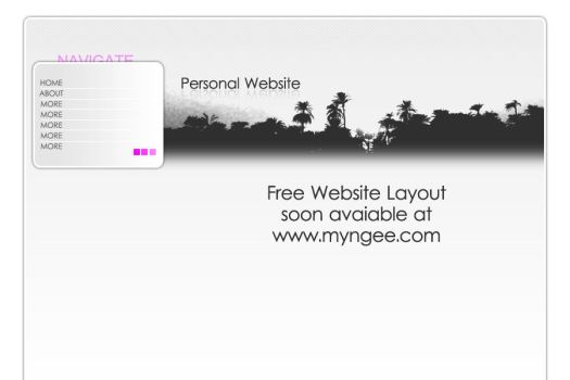 Free Website Layout psd 002 by ngee