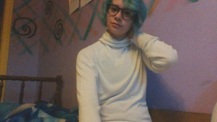 I feel so handsome with my binder and turtleneck by AeglaciaLauraine01