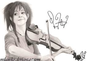 Lindsey Stirling pencil drawing Signed by MilanRKO