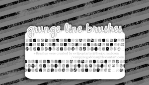 Grunge Line Brushes by VampyreGoddess