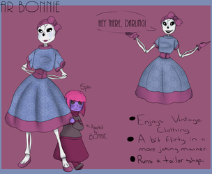 Undertale OCs: AR BONNIE and Spin by xSpiralMoon-Artsx