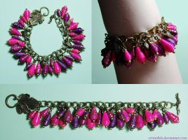 paper bracelet - Pink Poisonberry by Crimefish