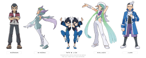 (POKEMON ORAS) gym leaders part two by Nephae
