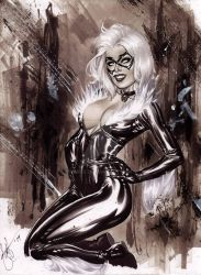 eBas smiling BlackCat Copic commish by ebas
