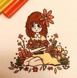 Arms full of Flowers  by Crazy-Diamond225
