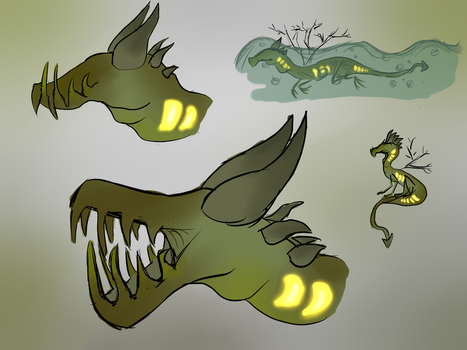 Murky waters... or rather messy sketches by DreamerTheTimeLady