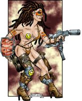 CAC350-Post-Apocalypse-Gunfighter-Babe-lo by BKMcDevitt