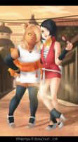 Boruto : Chou-chou and Sarada_Complices by MimiSempai