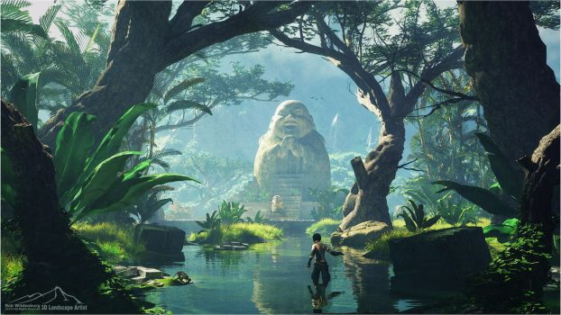 The Giant Buddha by 3DLandscapeArtist