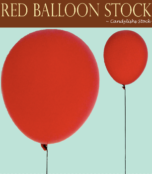 Red Balloon With String Stock by Candylishs