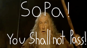 SOPA You shall not pass by SadisticCartoonGirl